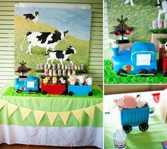Choo Choo! Moo Moo! {Train + Farm Inspired Birthday Party}