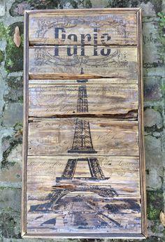 Paris Vintage Eiffel Tower Wall Art