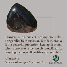 Shungite Stone - You will love Energy Muse Shungite Stones. Discover the benefits of the shungite healing properties and of healing crystals and their meanings. Crystal Magic, Crystal Healing Stones, Crystal Grid, Stones And Crystals, Gem Stones, Chakra Crystals, Chakra Stones, Black Crystals, Minerals And Gemstones