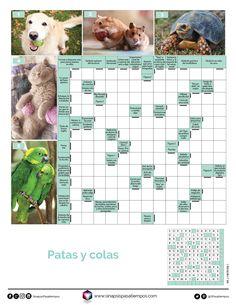 Autodefinido. Patas y colas. #Pasatiempos #Entretenimiento #Autodefinidos #Crucigramas #Mascotas #PatasyColas  ¡Encuentra más pasatiempos en www.sinapsispasatiempos.com! Iphone, Frases, Printable Word Search Puzzles, Outdoor Games, Barn Owls, Entertainment, Mirrors, Red, Pets