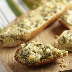 Artichoke Florentine Bread #appetizer