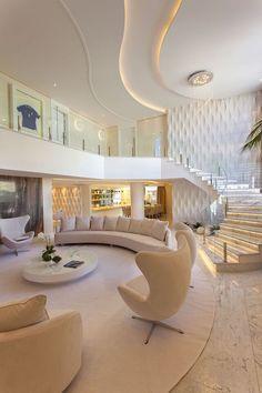 Home Stairs Design, Modern Home Interior Design, Dream Home Design, Modern House Design, Luxury Interior, Luxury Home Designs, 3d Home Design, Interior Designing, Mansion Interior