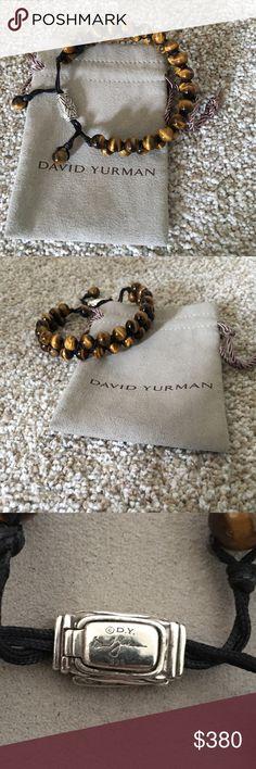 Don't wear it enough David Yurman tiger eye beaded bracelet. Beautiful and quality. David Yurman Accessories Jewelry