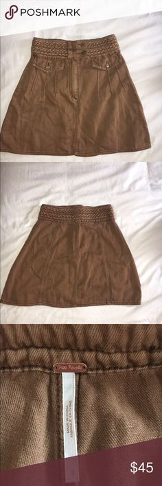 Free People High-Waisted Denim Skirt NWOT Has never been worn before and is in perfect condition!! NWOT Free People Skirts