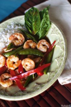 Thai Red Curry with Shrimp for Two