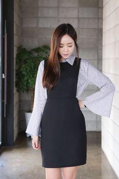 Anne Suspenders Dress | Korean Fashion