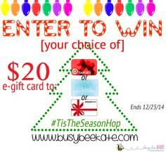 Tis The Season For Giveaways Hop | Enter to Win $20 Target, Michaels, or Amazon e-Gift Card! #TistheSeasonHop #giveaway (busybeekate.com)