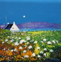 Isle Of Iona, Isle Of Harris, Spring Shower, Red Roof, Arran, Spring Blossom, Autumn Garden, Flower Boxes, Abstract Landscape
