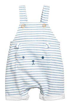 Dungarees - Blue/White/Striped - Kids | H&M GB 1