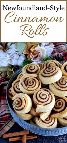 Newfoundland Style Cinnamon Rolls - Made Without Yeast, Newfoundland Style Cinnamon Rolls Are Less Like Bread And More Like A Biscuit. No Icing Needed Here Perfection Doesnt Need To Be Dressed Up Traditional Biscuit Cinnamon Rolls, Cinnamon Bun Recipe, Best Cinnamon Rolls, Cinnamon Rolls Without Yeast, Best Breakfast Recipes, Brunch Recipes, Dessert Recipes, Breakfast Ideas, Baking Recipes