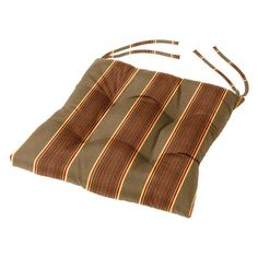 16 x 16 in. Striped Sunbrella Dining Chair Cushion Davidson Redwood - TXM4A-5606, Cushion Source