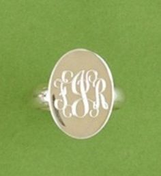 Monogrammed ring!