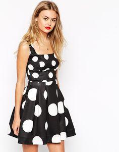 Image 1 ofASOS Spot Debuntante Mini Dress