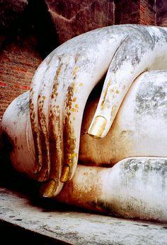 Buddha detail - Sukhothai, Thailand