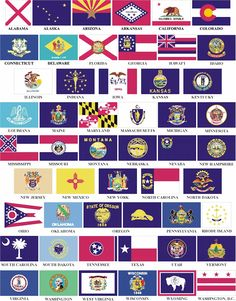 State flags.
