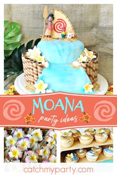 Check Out This Tropical Moana Birthday Party The Cake Is Beautiful See More