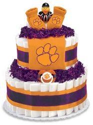 Clemson diaper cake