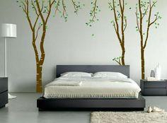Birch Tree Winter Forest Set Vinyl Wall Decal Custom - Custom large vinyl stickers