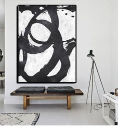 Black and white abstract painting extra large on canvas textured wall art inspiration too in red . Black And White Painting, Black And White Abstract, White Art, Black White, Oil Painting Abstract, Abstract Wall Art, Canvas Wall Art, Art Projects, Contemporary Art