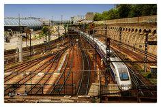 TGV Paris Stonechat, Railroad Tracks, France, Paris, Explore, Montmartre Paris, Paris France, Train Tracks, Exploring