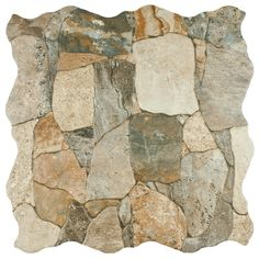 Give your living space or office a new look with this ceramic floor and wall tile. It features a stone design that gives the room a rustic feel. Made for heavy duty areas, these tiles are a great option for hallways, kitchens, and commercial buildings.