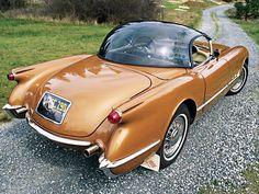 1955 Chevrolet Copper Corvette Bubbletop Concept Convertible