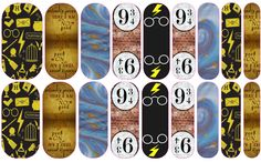 Harry Potter Jamberry Nail wraps - will give you 2 manicures and 2 pedicures and you will have some left for accents. When ordering please state if Jamberry Party, Jamberry Nail Wraps, Fun Nails, Pretty Nails, Harry Potter Baby Clothes, Harry Potter Nails, Nail Envy, Mischief Managed, Nails Inspiration