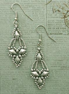 Linda's Crafty Inspirations: Arabella Earrings - Matte Silver