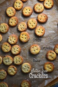 Gluten-free Parmesan Snack Crackers