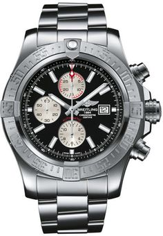 @breitling  Watch Super Avenger II #bezel-unidirectional #bracelet-strap-steel #brand-breitling #case-material-steel #case-width-48mm #chronograph-yes #cosc-yes #date-yes #delivery-timescale-call-us #dial-colour-black #gender-mens #luxury #movement-automatic #official-stockist-for-breitling-watches #packaging-breitling-watch-packaging #style-sports #subcat-avenger #supplier-model-no-a1337111-bc29-168a #warranty-breitling-official-2-year-guarantee #water-resistant-300m