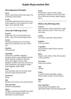 Easy pitta dosha recipes
