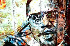 malcolm x-rusted metal, by the griffin passant  streetworks