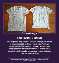 PROSTY I SKUTECZNY TRIK NA SKURCZONE PO PRANIU UBRANIE! Room Tour, Home Hacks, Good Advice, Clean House, Good To Know, Cleaning Hacks, Fun Facts, Diy And Crafts, The Cure