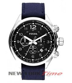 3084f244d7d Relógio FOSSIL Flight Cronógrafo Blue FCH2807 Relógio Feminino