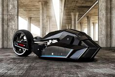 This BMW Titan motorcycle concept would make Batman go green with envy
