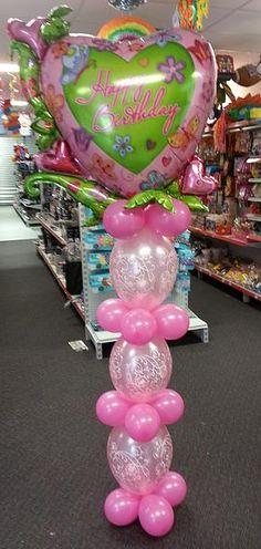 Garden Birhday Column. balloonart.com.au