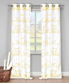 Another great find on #zulily! Yellow Mabel Curtain Panel - Set of Two #zulilyfinds
