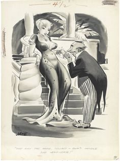 JACK COLE - Just kiss the hand, Count -- don't handle the lend-lease, 1955 - item by fineart.ha