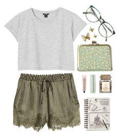"""""""Let's run away..."""" by centimeter ❤ liked on Polyvore featuring H&M, Grown Alchemist and Monki"""