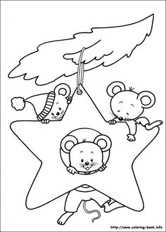 Awesome Christmas Mouse Coloring Pages Coloring Book Pages, Printable Coloring Pages, Christmas Colors, Christmas Art, Christmas Ornament Coloring Page, Clipart Noel, Star Ornament, Christmas Embroidery, Digi Stamps