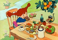 """mikekrentzlooksat: """"  Pippi Longstockings (That Never Saw the Light of Day) -via ghiblicon """""""