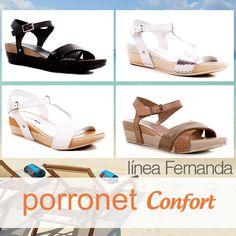 8c937525 Sandalias #Confort de piel by Porronet Confort www.porronet.es #Porronet # sandalias #sandals #maderas #tacones #zapatos #shoelover #shoes #madeinSpain