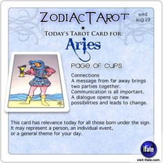 Todays Aries tarot card: Hey Aries, your daily horoscope for the day is interesting! Visit iFate.com today!