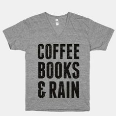 Coffee Books & Rain (Vintage) | HUMAN | T-Shirts, Tanks, Sweatshirts and Hoodies