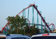 The Mind Eraser Roller Coaster at Darien Lake Theme Park, Corfu, New York