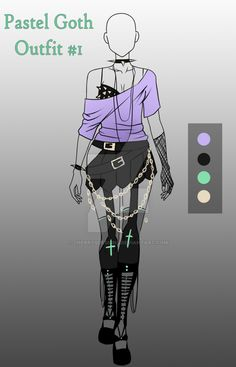 (CLOSED) Adopt - Pastel Goth Outfit #1 by CherrysDesigns on DeviantArt