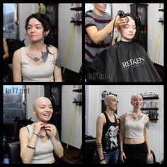 Cool Haircuts For Girls, Summer Haircuts, Bald Head Women, Skinhead Reggae, Shaved Hair Women, Shaved Heads, Super Short Hair, Bald Hair, Hairdresser