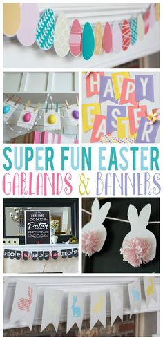 Cute easter home decor ideas and free printables!