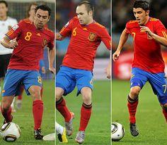 Xavi, Iniesta & Villa