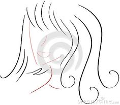 Image representing an artistic woman face with long hair.